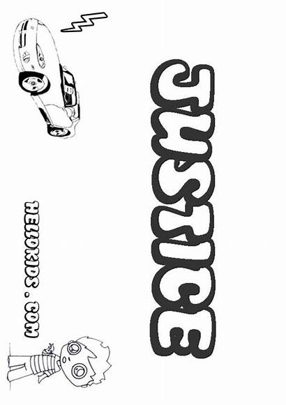 Justice Coloring Pages Hellokids Names Boys Boy