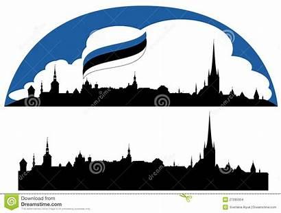 Tallinn Vector Skyline Estonia Realistic Capital Dreamstime