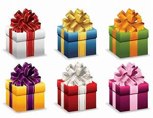 Gift Boxes with Ribbon Vector Illustration | Free Vector ...