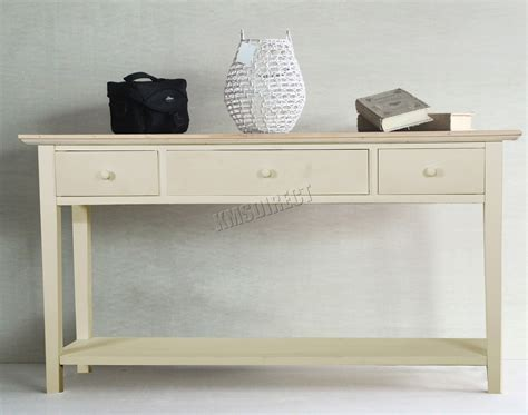 Foxhunter Console Table 3 Drawers Wood Hallway Side Wall Kitchen Cabinets With Glass Doors Cabinet Paint Color Ideas Modern Cherry Custom Seattle Shop Online How Much Do Cost Painting Laminate Sliding Door