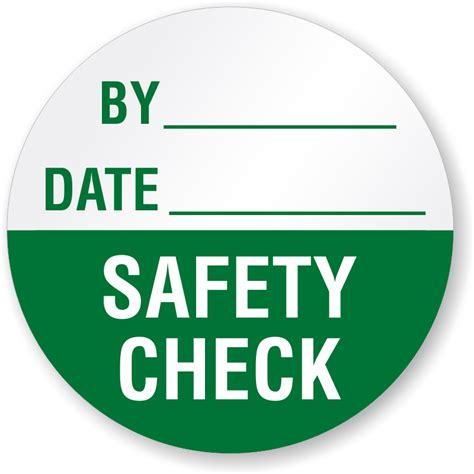 safety check by date write quality label sku qc 0170