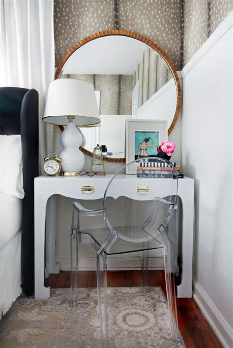 ghost chair for vanity tips and tricks for decorating small or awkward spaces a