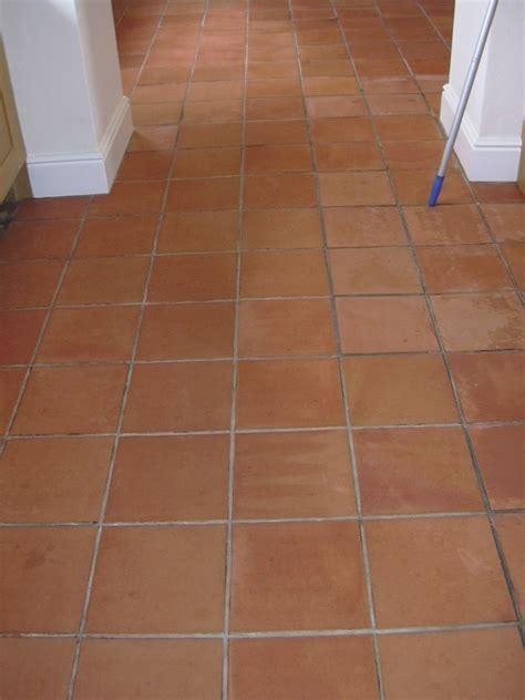terracotta floor tile terracotta floor in prestbury cheshire cleaned sealed
