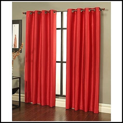 Grey And Red Eyelet Curtains   Curtains : Home Design