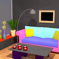 Colorful Living Room Escape by Colourful Living Room Escape Walkthrough Help Hints And