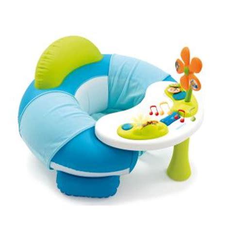 siege eveil bebe siège gonflable smoby cotoons cosy seat bleu jeu d 39 éveil