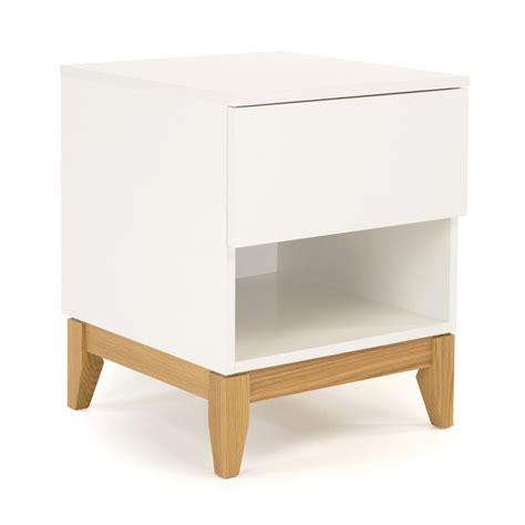 table chevet scandinave table d appoint scandinave pratique blanco drawer