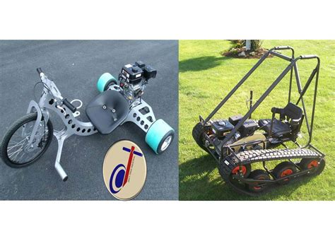Drift Trike Industrial, Personal Tracked Vehicle Twin Pack