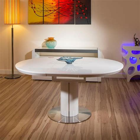 white oval dining table modern dining table white gloss round oval extending