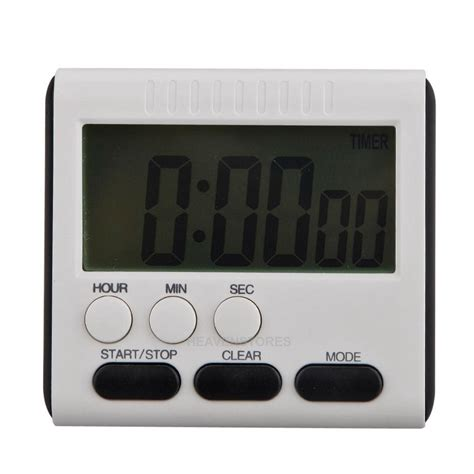 timer cuisine lcd digital large kitchen cooking timer count up