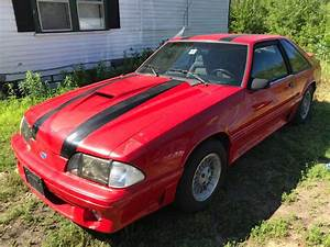 3rd generation red 1988 Ford Mustang GT Hatchback [SOLD] - MustangCarPlace