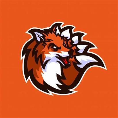 Fox Gaming Mascot Esport Template Vector Fortnite