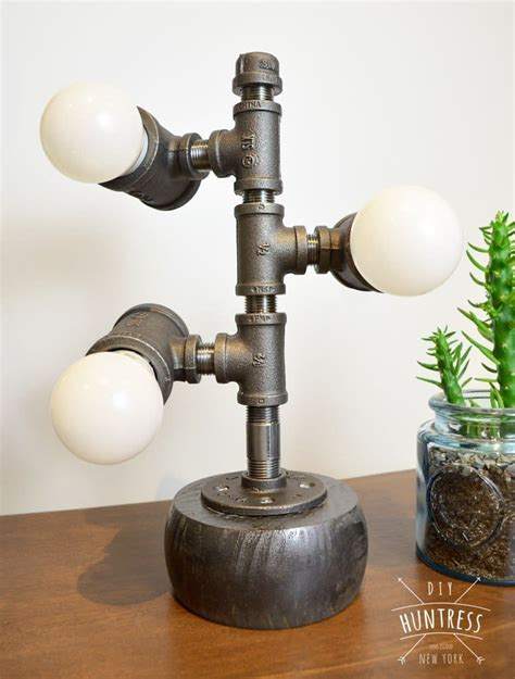 diy industrial pipe lamp diy huntress
