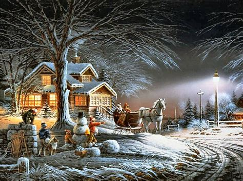 Winter Wonderland by Terry Redlin Winter scenes Winter