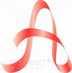 letter a clipart pink ribbon alphabet With letter with ribbon