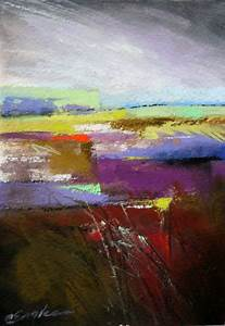 carol engles lavender grey sky one pastel abstract
