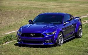 Download wallpapers ford mustang gt, 2016, blue ford, blue mustang gt, tuning mustang gt, tuning ...