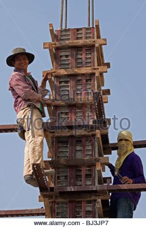 Details Of Scaffolding On Construction Site Stock Photo