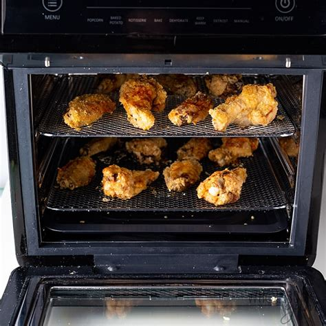 fryer air wings chicken crispy recipe racks oven recipes frying wholesomeyum shown fry cook wing cooking frozen spread