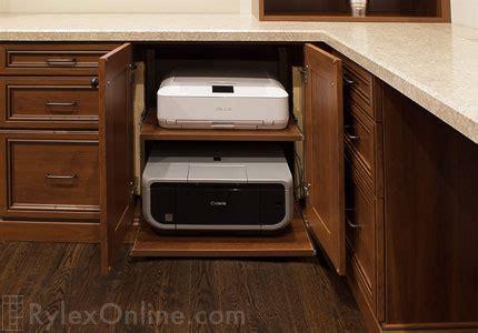 pull  printer shelf sliding office printer cabinet