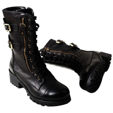 laced motorcycle boots lilystyle retro lace up strap buckle british motorcycle