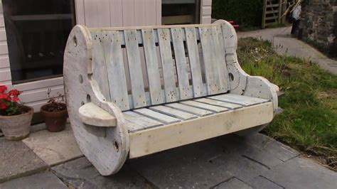 diy garden bench project pallet  cable reel furniture