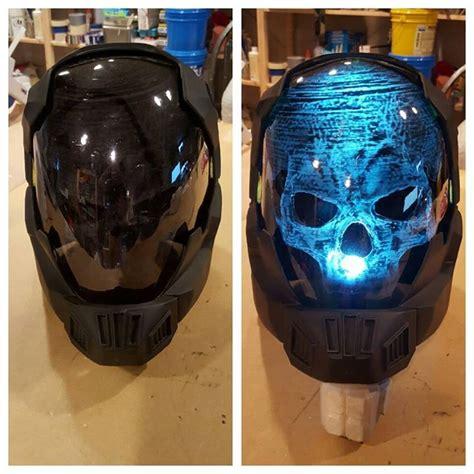halo alternate pilot helmet  light  skull adafruit