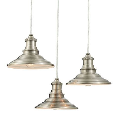 shop allen roth hainsbrook 18 3 in antique pewter rustic