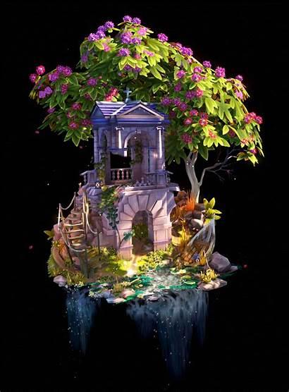 Diorama Abandoned Hand 3d Painted Environment Fantasy