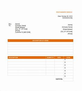 photography invoice template 6 free sample example With freelance photography invoice template