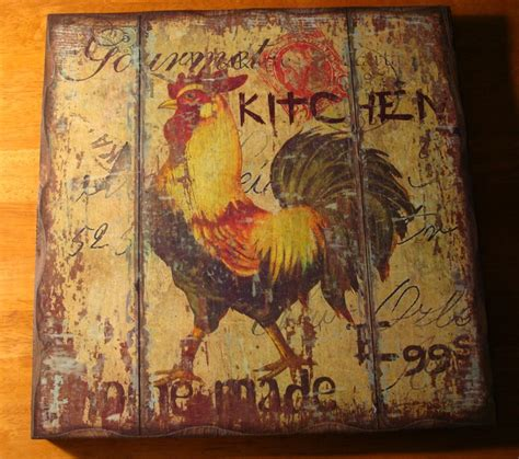 Primitive Rooster Kitchen Decor by Rustic Rooster Gourmet Chicken Egg Farm Kitchen Wood