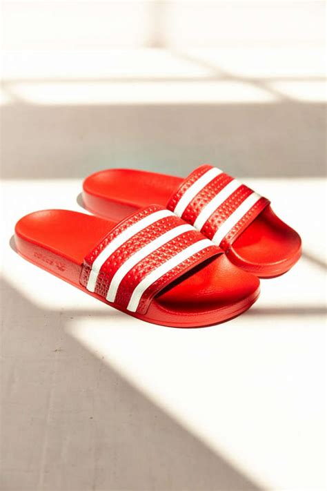 adidas originals adilette scarlet  urban outfitters