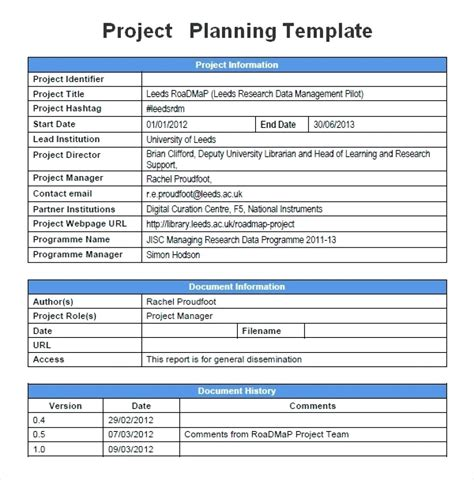 project management plan template qualads