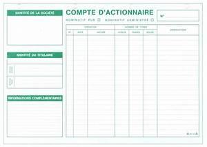 Mon Compte 3 Suisses : fiches comptes d 39 actionnaires papeterie gouchon ~ Nature-et-papiers.com Idées de Décoration