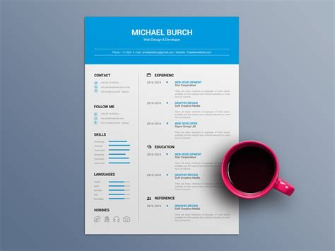 These modern cv templates for word, pages, and indesign are the perfect starting point for creating your new and improved resume. Free Minimal CV Template in Word File Format