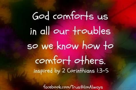 god comforts us relating to others in special connections