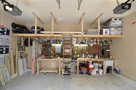 overhead garage storage ideas pull  stairs ideas