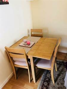Fold, Out, Dining, Table, With, 4, Matching, Chairs, Excellent, Condition