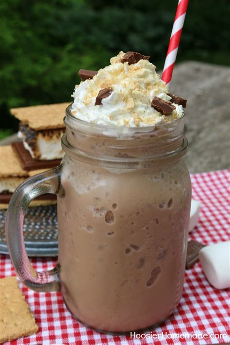 How to make a greek frappé coffee | frappe coffee recipe ingredients: S'mores Frappuccino: Starbucks Copycat Recipe - Hoosier Homemade