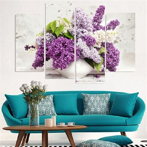 Stupell industries 'colorful hydrangeas with antique french backdrop' textual art wall. Framed Wall Art Prints Potted Hydrangea Paintings Large ...