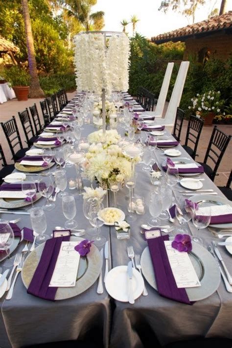 lavender wedding reception table decorations wedding table that mixed use gray white and