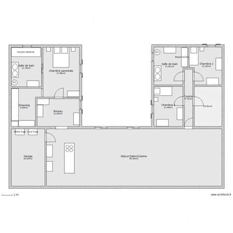 les 25 meilleures id 233 es de la cat 233 gorie plan maison en u sur modele de cuisine