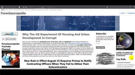 of housing and development the corruption of the us department of housing and