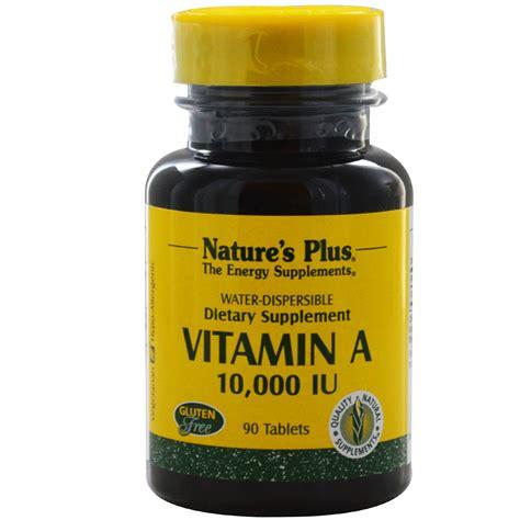 Uv L Vitamin D Supplement by Nature S Plus Vitamin A 10 000 Iu 90 Tablets Iherb