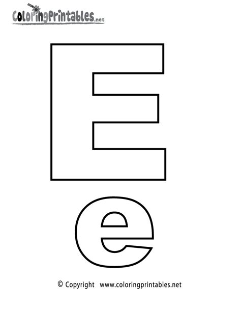 alphabet letter e coloring page a free coloring