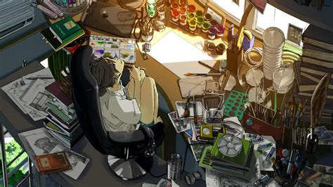 Anime Wallpaper Room - anime room painting wallpaper anime wallpaper
