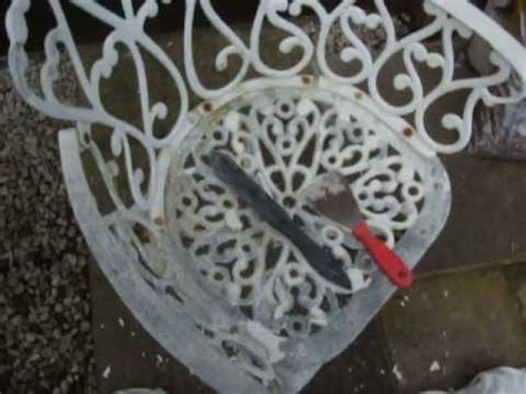 how to restore cast garden furniture by colscopters