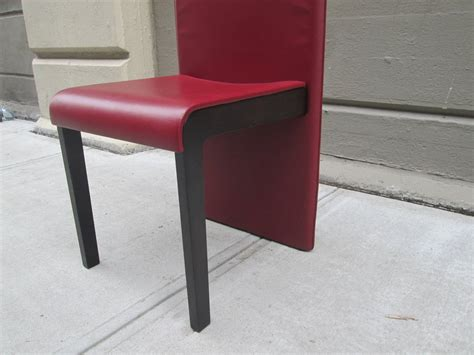 Six Leather Dining Chairs By Poltrona Frau For Sale At 1stdibs