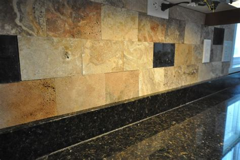 Scabos Travertine Tile Backsplash by Granite Countertops And Tile Backsplash Ideas Eclectic