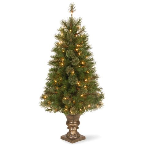 martha stewart pre lit christmas tree replacement kit home accents 4 ft potted artificial tree with 50 clear lights tyt 14048 1